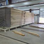 VacuPress12000 Lumber pile